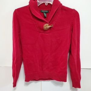 Lauren Ralph Lauren Sweater Red Size Small